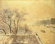 Morning snow Camille Pissarro
