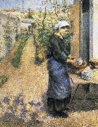 Dish washing woman Camille Pissarro