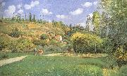 Cattle woman Camille Pissarro
