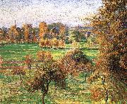 Autumn morning, a large walnut Camille Pissarro