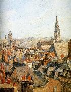 Old under the sun roof Camille Pissarro