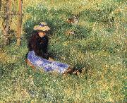 Woman and goats Camille Pissarro