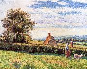 Women and the sheep Camille Pissarro