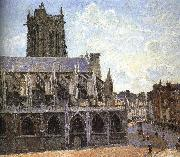 Church under the sun Camille Pissarro