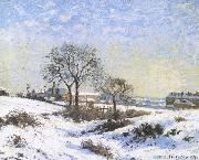 Connaught Kivu area on Snow Camille Pissarro