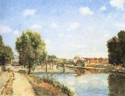 Pang map of the railway bridge Schwarz Camille Pissarro