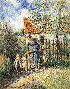 Mothers and children in the garden Camille Pissarro