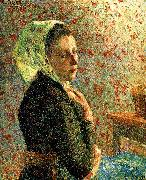Department of green headscarf woman Camille Pissarro