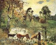 Montreal luck construction pond Camille Pissarro