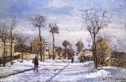 Lu Xian floating snow road Camille Pissarro