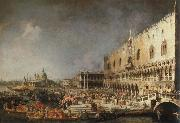 reception of the french ambassador in venice Canaletto