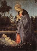 adoration of the child Filippino Lippi