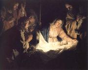 adoration of the shepherds Gerrit van Honthorst