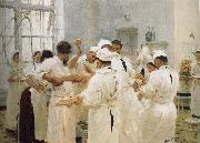 Lofton Palfrey doctors in the operating room Ilia Efimovich Repin