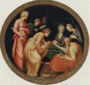 The birth of the Baptist Jacopo Pontormo
