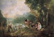 The base Shirra island goes on a pilgrimage Jean antoine Watteau