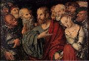 Christ and the Woman Taken in Adultery Lucas Cranach