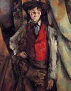Boy in a Red Vest Paul Cezanne