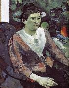 Cezanne s still life paintings in the background of portraits of women Paul Gauguin