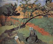 Brittany landscape Paul Gauguin