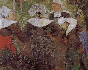 Four women dancing Brittany Paul Gauguin