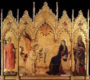 The annunciation with Two Saints Simone Martini