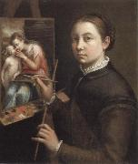 self portrait at the easel Sofonisba Anguissola