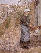 woman washing dishes Camille Pissarro