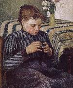 Woman Sewing Camille Pissarro