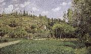 Pont de-sac of cattle and more people Schwarz Camille Pissarro