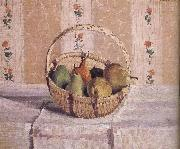 basket of apples and pears Camille Pissarro