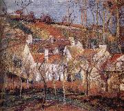 Red roof house Camille Pissarro