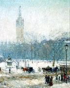 Snowstorm, Madison Square Childe Hassam