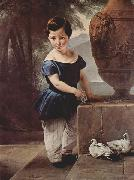 Portrait of Don Giulio Vigoni as a Child Francesco Hayez