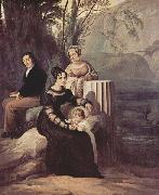 Portrait of the family Stampa di Soncino Francesco Hayez