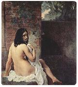 Bather viewed from behind Francesco Hayez