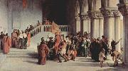 Release of Vittor Pisani from the dungeon Francesco Hayez