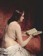Odalisque with Book Francesco Hayez
