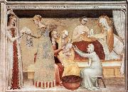 The Birth of the Virgin GIOVANNI DA MILANO