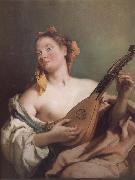 Mandolin played the young woman Giovanni Battista Tiepolo