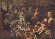 Jacob Jordaens, As the Old Sang, So the young Pipe. Jacob Jordaens