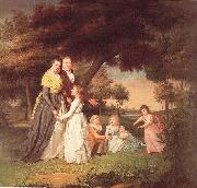 The Artist and His Family James Peale
