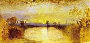 Chichester Canal vivid colours may have been influenced by the eruption of Mount Tambora in 1815. William Turner