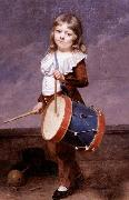 Portrait of the Artist's Son as a Drummer Martin  Drolling