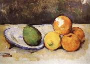 and fruit have a plate of still life Paul Cezanne