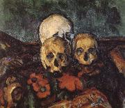 carpet three skull Paul Cezanne