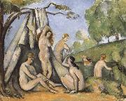 Bath woman who Paul Cezanne