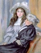 Portrait of Berthe Morisot and daughter Julie Manet, renoir