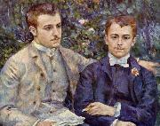 Portrait of Charles and Georges Durand Ruel, renoir