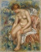 Seated Bather Drying Her Leg, renoir
